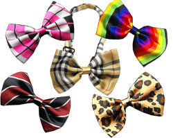 All Colors - Patterned Dog Bow Ties