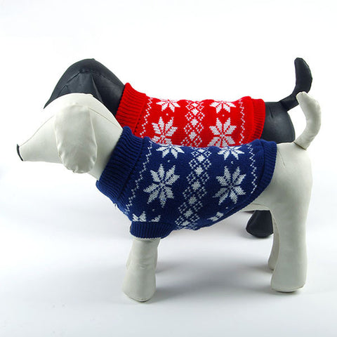 Snowflake Holiday Dog Sweater