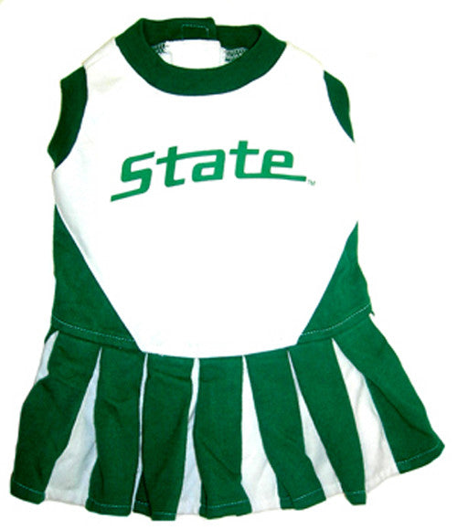 michigan state spartans dog cheerleader outfit