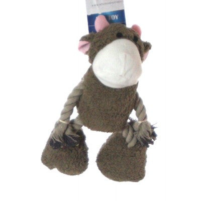 plush and rope animal toy