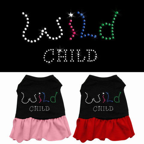 Wild Child Rhinestone Dog Dress