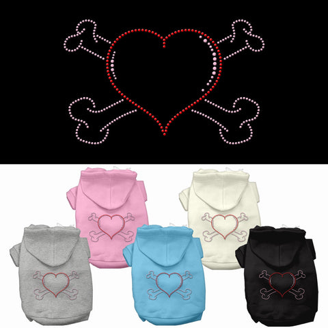 Heart and Crossbones Dog Hoodie