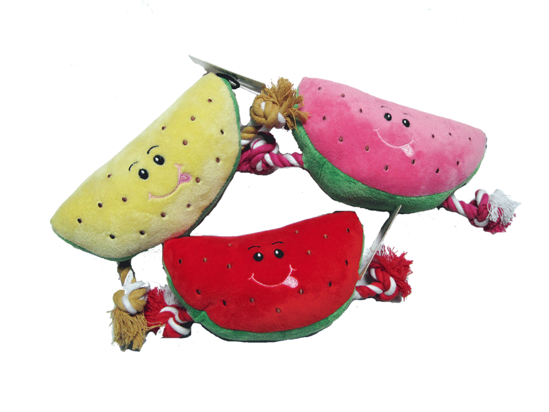 watermelon rope plush toy squeaker