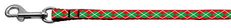 christmas argyle nylon leash
