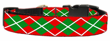 Christmas Argyle Nylon Collar