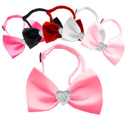 Crystal Heart Bow Tie
