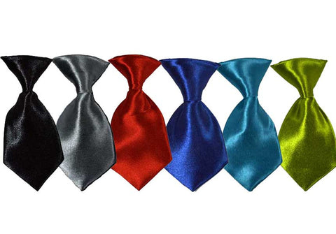 All Solid Color Dog Neckties