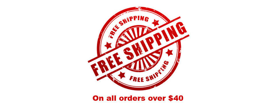 Free shipping on orders over $40