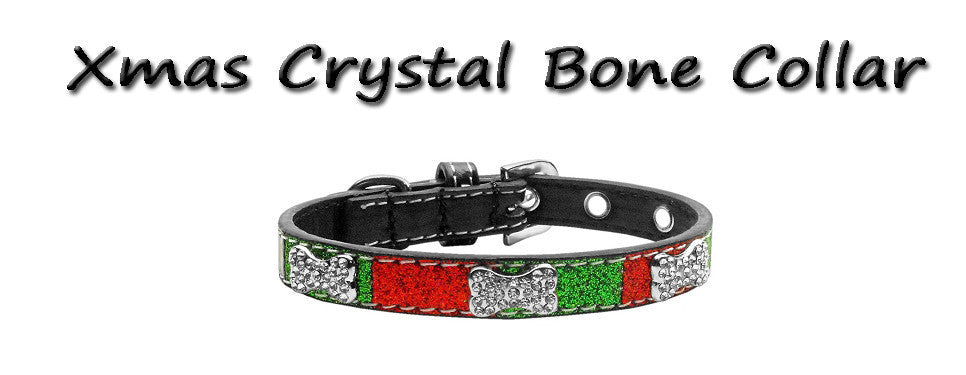 Xmas Crystal Bone Collar