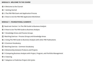 Self Paced PMI Professional in Business Analysis (PMI-PBA)® Boot Camp - 35 Contact Hours/PDUs