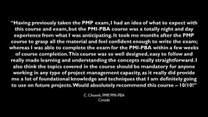 Virtual PMI PBA Review