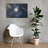 Galaxy in the Grime - Canvas Print