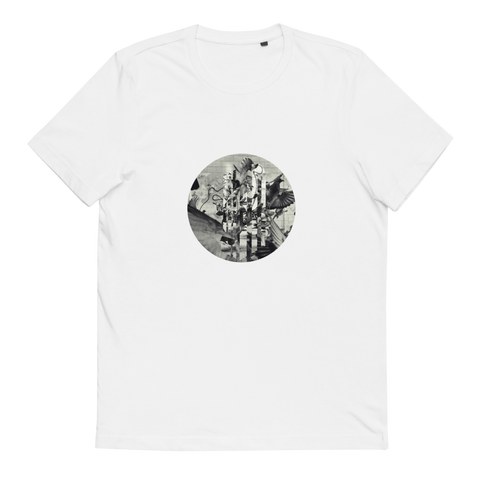 Metro Remix 01 - Birds - Unisex Organic Cotton T-Shirt