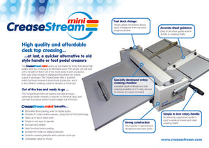 Crease Stream Mini Demo Machine
