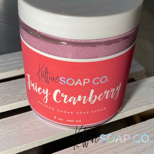 Juicy Cranberry 8oz. Whipped Sugar Soap Scrub