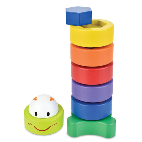CATERPILLAR SORT AND STACK Wood Activity Toy