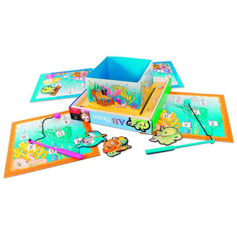 AB SEAS® Magnetic Alphabet Fishing Game