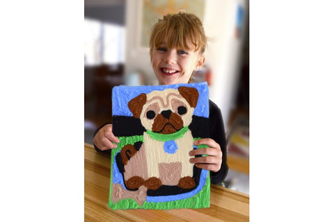 Y'ART® PUG PUPPY Art Kit