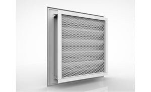 Storm-proof Louver with fixed deflective blades