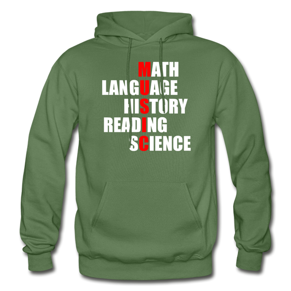 Music In The Middle - Adult Hoodie - military green
