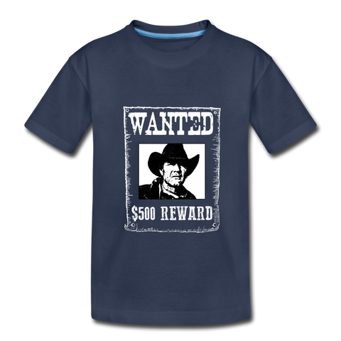Wanted - Reward - Kids Premium T-Shirt - navy