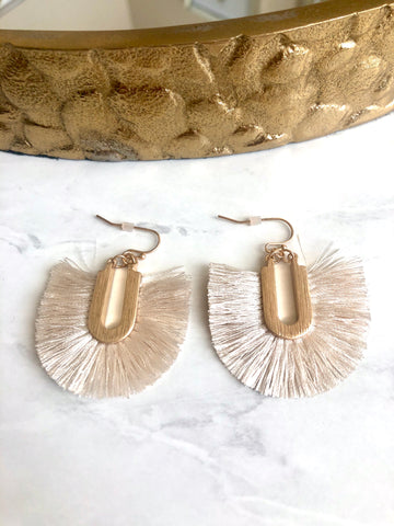 Ivory Fringe Earrings
