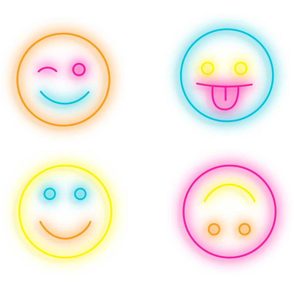 Smiley Series Neon Sign - Smart D2 Playrooms