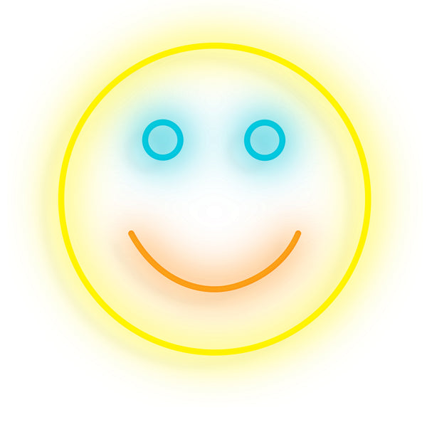 Put on a Happy Face Neon Sign - Smart D2 Playrooms