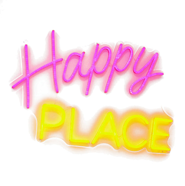 Happy Place Neon Sign - Smart D2 Playrooms