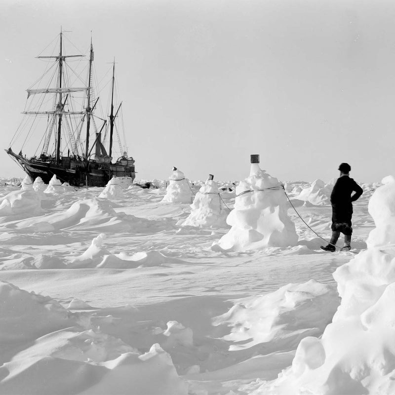 Ernest Shackleton's Ship moored in the Antarctic - Scented Candle