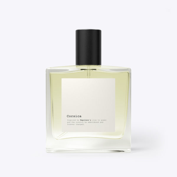 Corsica - a fragrance inspired by Napoleon Bonaparte and his Corsican roots.