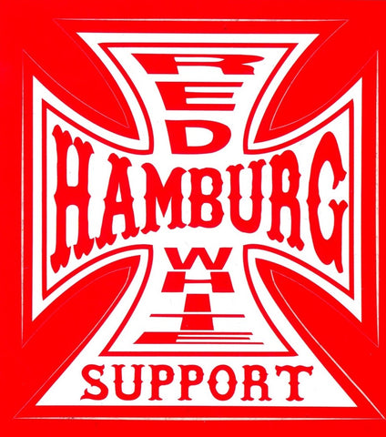 Sticker Kreuz - Hamburg