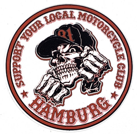 Sticker Support Hamburg red