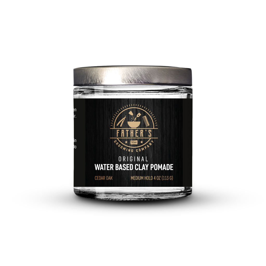 Water based clay pomade