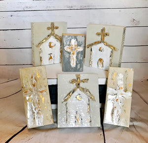 Wooden Painted Crosses