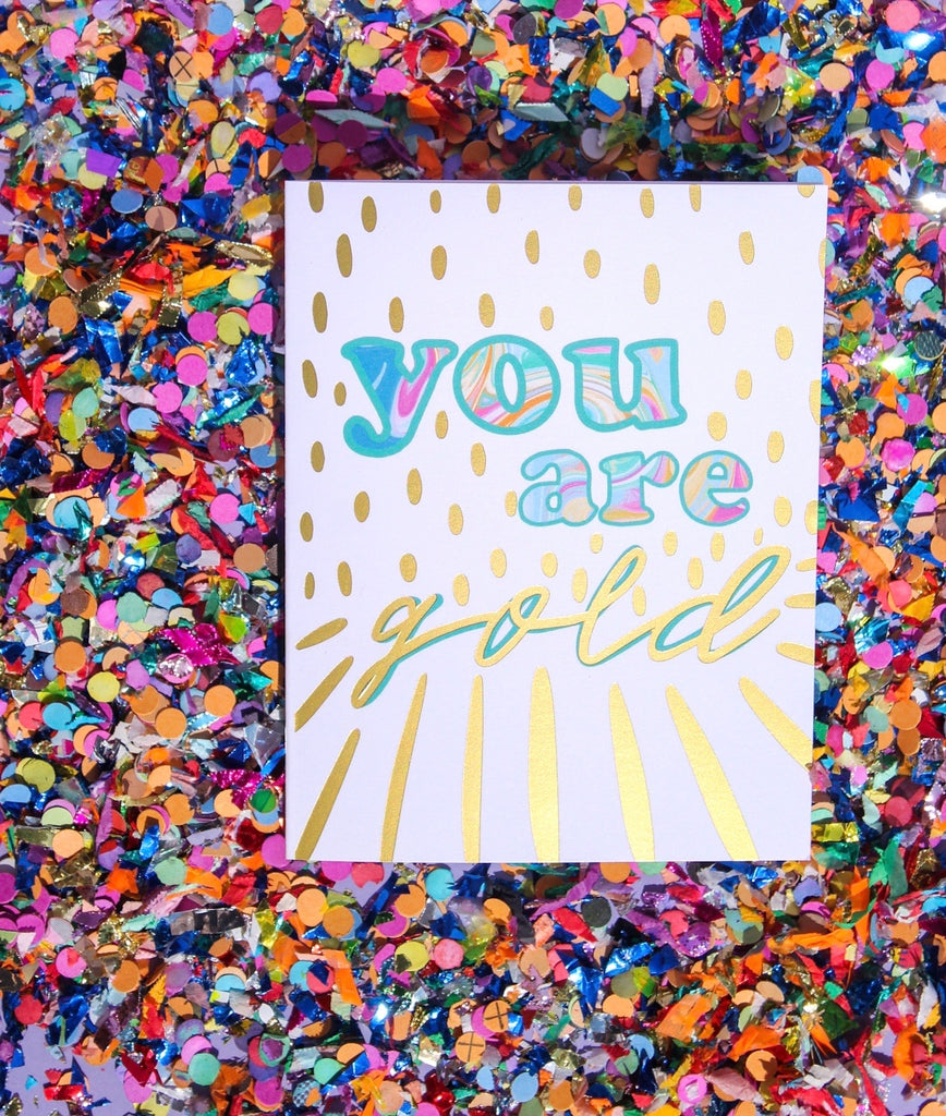 You are Gold Stationery Set