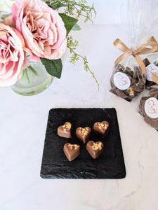 Milk Chocolate hearts with Golden Honeycomb crumb