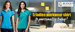 5 ladies workwear shirt to personalise today!