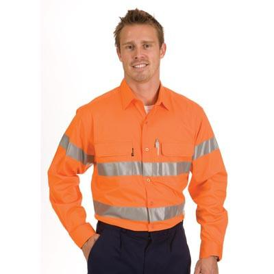 DNC HiVis Cool-Breeze L/S Cotton Shirt with 3M Value R/T (3987)