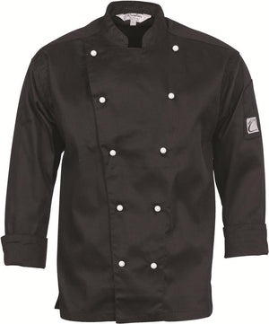 DNC Workwear-DNC Traditional Chef Jacket, Long Sleeve-XS / Black-Uniform Wholesalers - 2