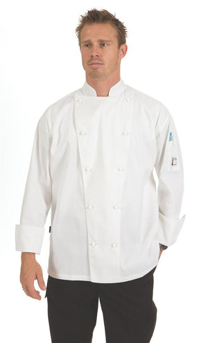 DNC Workwear-DNC Traditional Chef Jacket, Long Sleeve--Uniform Wholesalers - 1