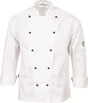 DNC Workwear-DNC Three Way Air Flow Lightweight Chef Jacket - L/S-XS / White-Uniform Wholesalers - 3