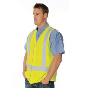 DNC Workwear-DNC Day/Night Cross Back Safety Vests--Uniform Wholesalers - 1
