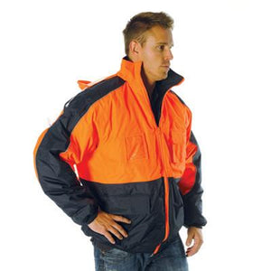 DNC Workwear-DNC HiVis Contrast Bomber Jacket--Uniform Wholesalers - 1