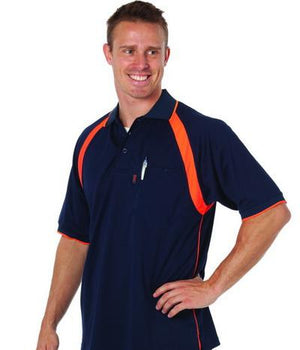 DNC Workwear-DNC Coolbreathe Contrast Polo--Uniform Wholesalers - 1
