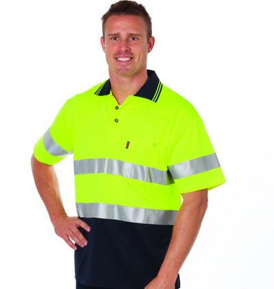 DNC HiVis Cotton Back S/S Polo with generic R/T (3717)
