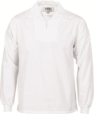 DNC Workwear-DNC V-Neck Food Industry Jerkin- Long Sleeve-XS / White-Uniform Wholesalers