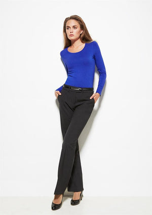 Biz Corporates-Biz Corporates Ladies Mid Rise Adjustable Waist Pant--Corporate Apparel Online - 1