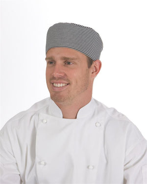 DNC Workwear-DNC Flat Top Chef Hat-0 / Black&White Check-Uniform Wholesalers - 3
