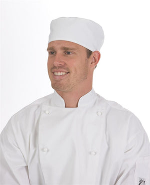 DNC Workwear-DNC Flat Top Chef Hat-0 / White-Uniform Wholesalers - 4